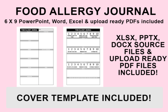 Print on Demand: KDP Interior - Food Allergy Journal Graphic KDP Interiors By Luke Bowes