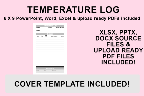 Print on Demand: KDP Interior - Temperature Log Graphic KDP Interiors By Bowes Publishing