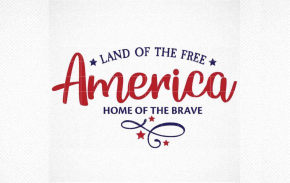 Download Free Land Of The Free Home Of The Brave Graphic By Svg Den for Cricut Explore, Silhouette and other cutting machines.