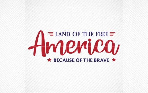 Download Free Land Of The Free Because Of The Brave Graphic By Svg Den for Cricut Explore, Silhouette and other cutting machines.
