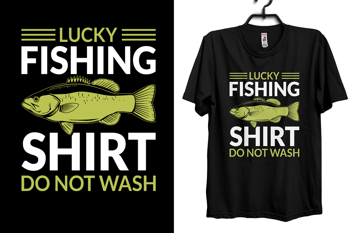 Download Lucky Fishing T Shirt Design Graphic By Storm Brain Creative Fabrica
