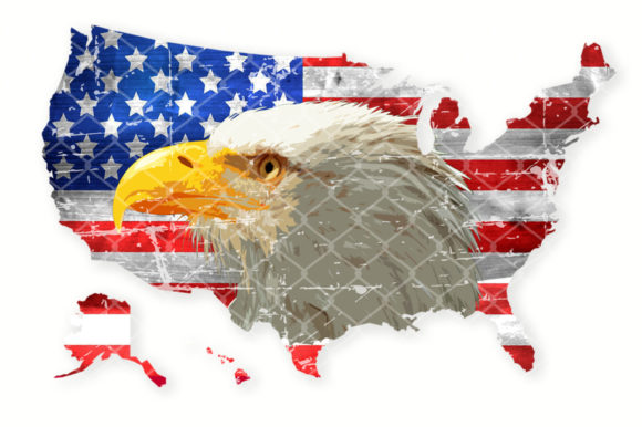 Sublimation USA Flag Eagle American Map Graphic Crafts By V-Design Creator