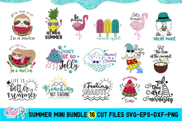 Summer Saying Cut File Bundle Graphic Illustrations By Cute files