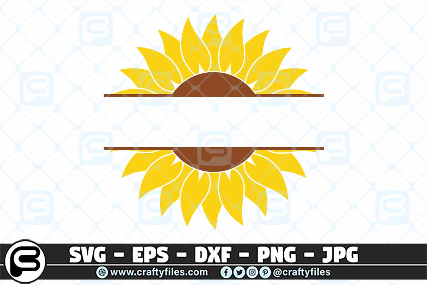 Download Free Sunflower Yellow With Cutom Text Graphic By Crafty Files for Cricut Explore, Silhouette and other cutting machines.