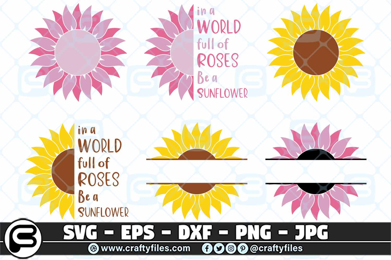 Download Free Sunflowers Bundles Graphic By Crafty Files Creative Fabrica for Cricut Explore, Silhouette and other cutting machines.