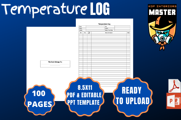 Print on Demand: Temperature Log Graphic KDP Interiors By KDP_Interiors_Master