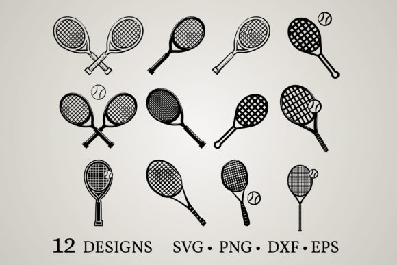 Download Free Tennis Bundle Graphic By Euphoria Design Creative Fabrica for Cricut Explore, Silhouette and other cutting machines.