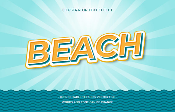 Text Effect - Beach Graphic Add-ons By aalfndi