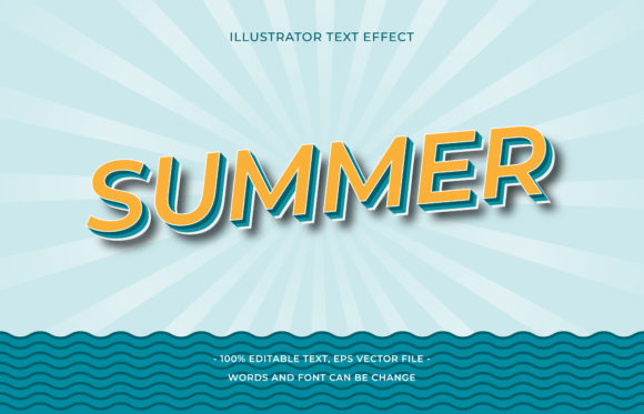 Text Effect - Summer Graphic Add-ons By aalfndi