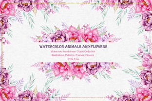 Watercolor Animals and Flowers - 2