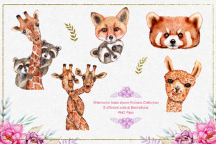 Watercolor Animals and Flowers - 3