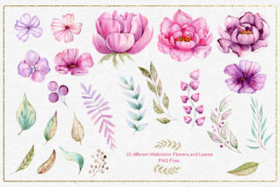 Print on Demand: Watercolor Animals and Flowers Graphic Illustrations By tanatadesign 8