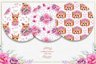 Print on Demand: Watercolor Animals and Flowers Graphic Illustrations By tanatadesign 9