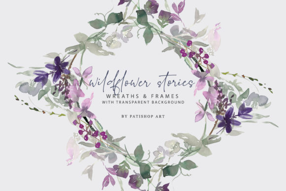 Watercolor Wildflower Clipart Set Graphic Illustrations By Patishop Art
