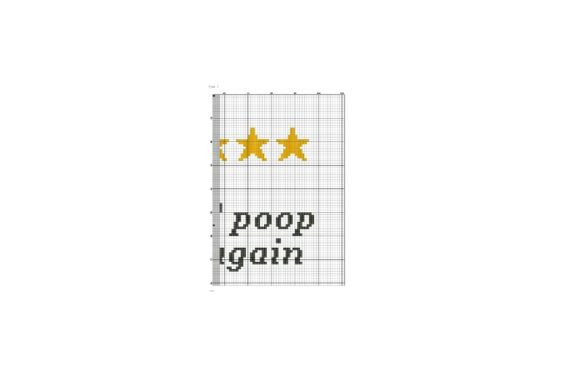 Would Poop Here Again Funny Cross Stitch Graphic Download