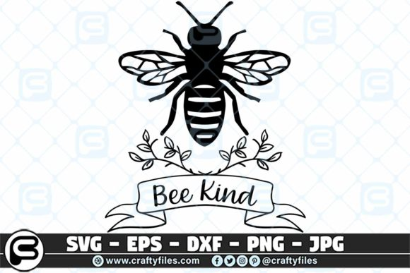 Download Free Bee Kind Happy Be Insect Graphic By Crafty Files Creative Fabrica for Cricut Explore, Silhouette and other cutting machines.
