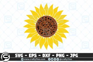 Download Free Yellow Sunflower Graphic By Crafty Files Creative Fabrica for Cricut Explore, Silhouette and other cutting machines.