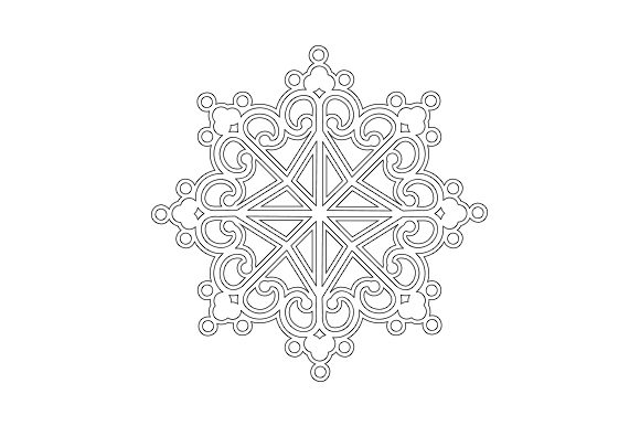Snowflake Christmas Craft Cut File By Creative Fabrica Crafts