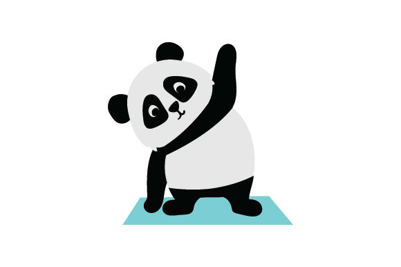 Panda Doing Yoga Animals Craft Cut File By Creative Fabrica Crafts