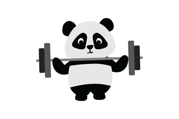 Panda Lifting Weights Animals Craft Cut File By Creative Fabrica Crafts