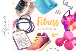 20 Fitness & Workout Cliparts Graphic Illustrations By Alphabelli