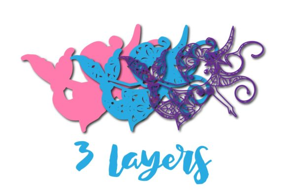 Download Free 3d Multilayer Mermaid Cut File 3 Graphic By Sintegra Creative for Cricut Explore, Silhouette and other cutting machines.