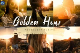 Print on Demand: 5 Golden Hour Photoshop Actions Graphic Actions & Presets By 3Motional