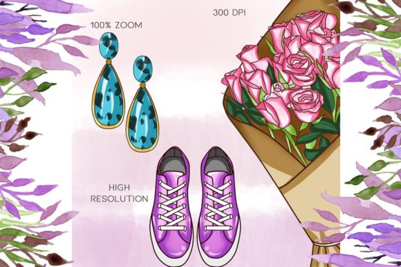 Print on Demand: 50 Fashion Icon Cliparts Graphic Illustrations By TheGGShop - Image 3