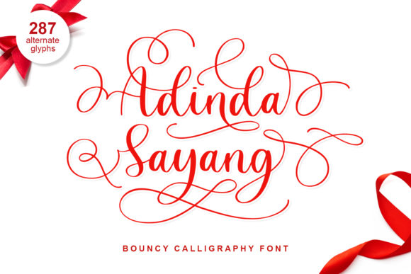 Print on Demand: Adinda Sayang Script & Handwritten Font By Abodaniel