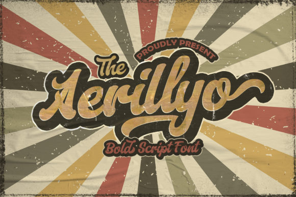 Print on Demand: Aerillyo Script & Handwritten Font By StringLabs