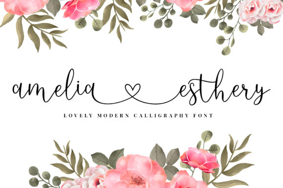 Print on Demand: Amelia Esthery Script & Handwritten Font By Sizimon