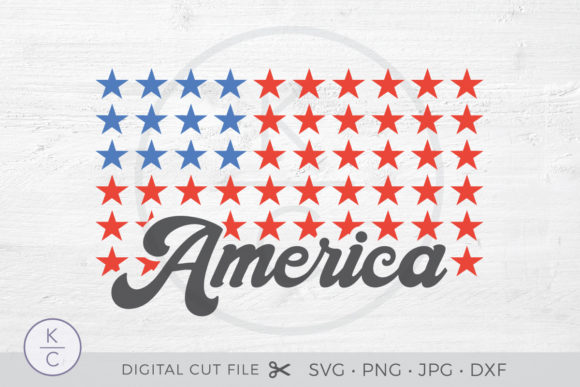 American Flag - 4th of July Graphic Crafts By thekccollectiveco