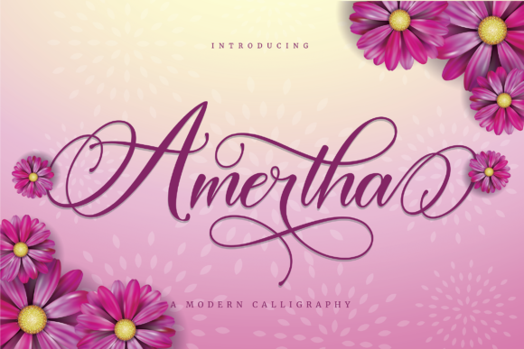 Print on Demand: Amertha Script & Handwritten Font By ToniStudio - Image 1