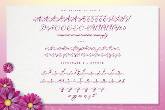 Print on Demand: Amertha Script & Handwritten Font By ToniStudio - Image 7