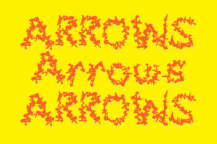 Print on Demand: Arrows Display Font By GraphicsBam Fonts