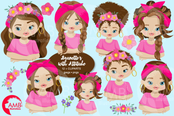 Attitude Girls Clipart 2786 Graphic Illustrations By AMBillustrations