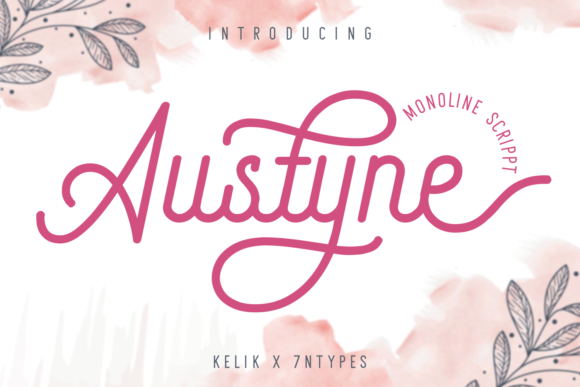 Print on Demand: Austyne Script & Handwritten Font By Kelik - 7NTypes