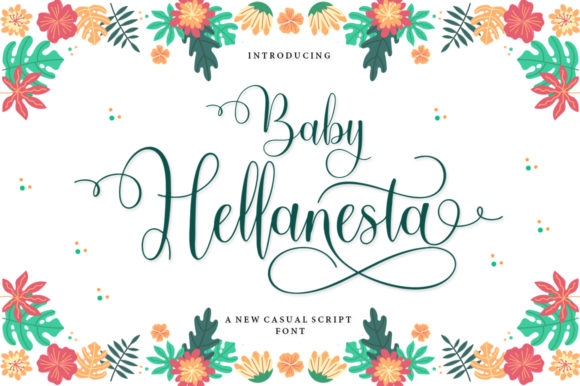 Print on Demand: Baby Hellanesta Script & Handwritten Font By IM Studio
