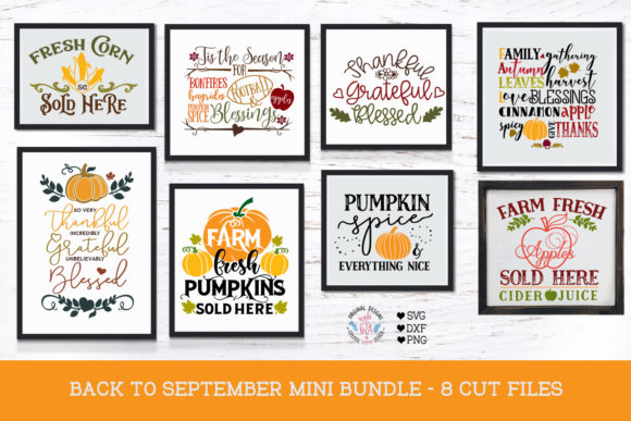 Back to September - Mini Cut Files Bundle Graphic Crafts By GraphicHouseDesign