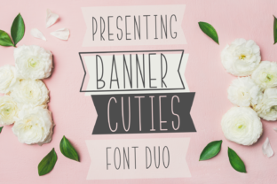 Print on Demand: Banner Cuties Sans Serif Font By Justina Tracy