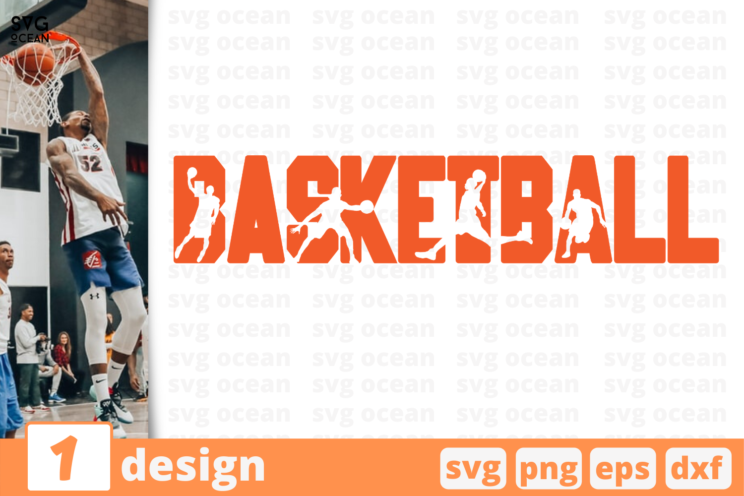 Download Free Basketball Graphic By Svgocean Creative Fabrica for Cricut Explore, Silhouette and other cutting machines.