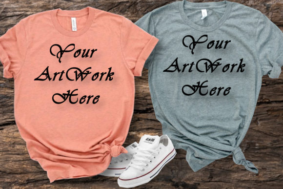 Bella Canvas Matching T-shirts Graphic Product Mockups By MockupsByGaby