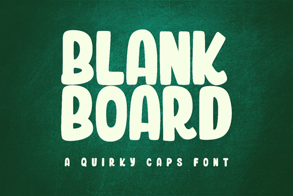 Print on Demand: Blank Board Display Font By estede75