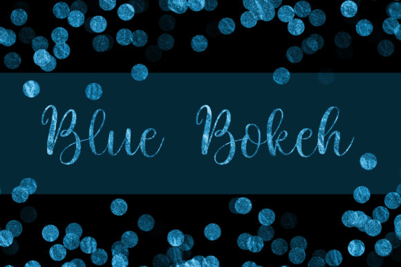 Blue Bokeh Glitter Background Graphic Backgrounds By PinkPearly