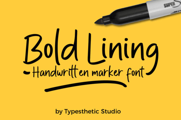 Print on Demand: Bold Lining Script & Handwritten Font By Typesthetic Studio