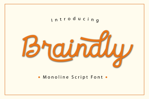 Print on Demand: Braindly Script & Handwritten Font By Manjalistudio