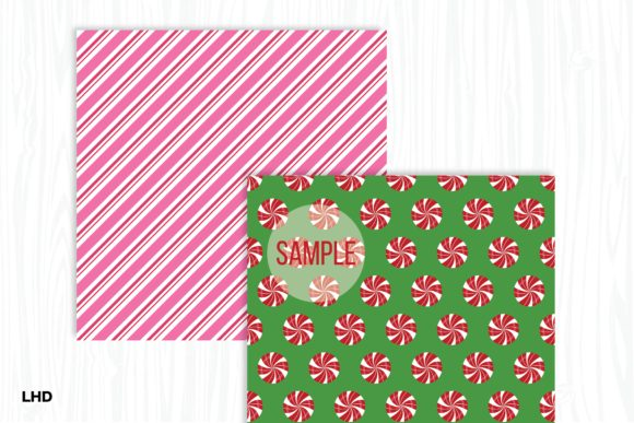 Candy Cane Stripe Holiday Patterns Graphic Item