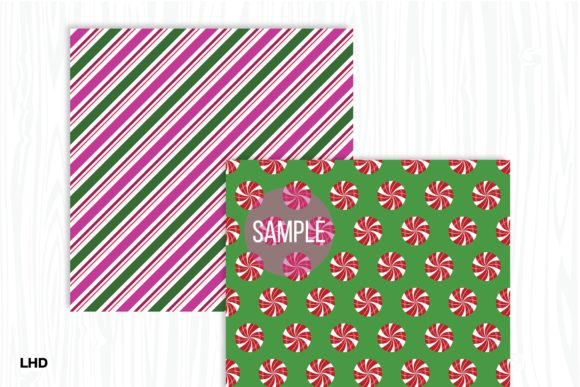 Candy Cane Stripe Holiday Patterns Graphic Design