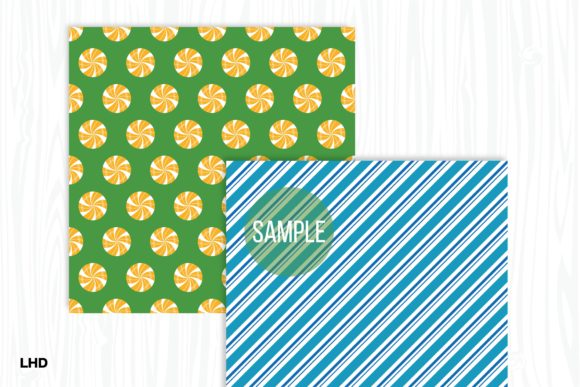 Candy Cane Stripe Holiday Patterns Graphic Preview