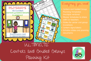 Centers / Guided Groups Planning Kit Graphic Teaching Materials By Teacher's Tribe